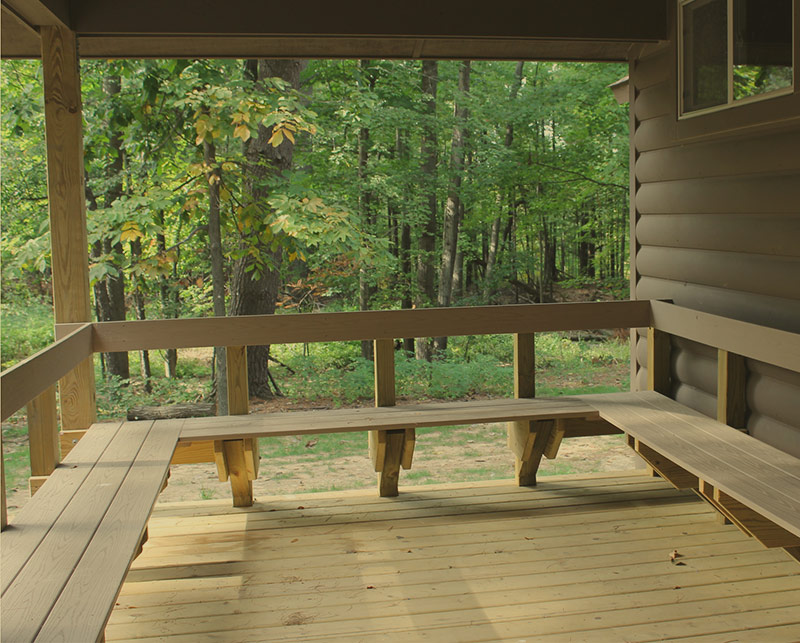 Lodging - Cabin Porch